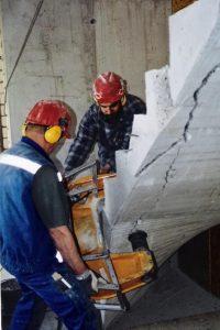 Jost-Diamanttechnik, hydraulisches Beißen